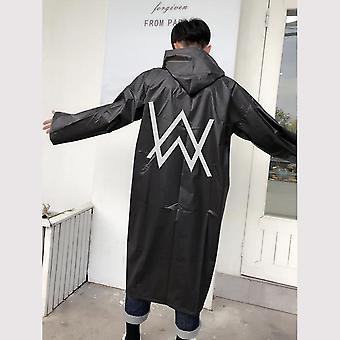 Women Men Black Raincoat Clothes Covers - Rainwear Waterproof Hooded Coat