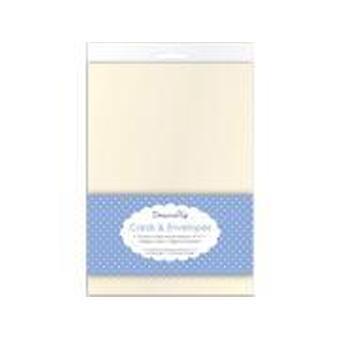 Dovecraft 10 Cream 5x7 kaarten en Enveloppen