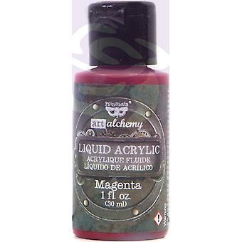 Finnabair Art Alchemy Liquid Acrylic Paint Magenta