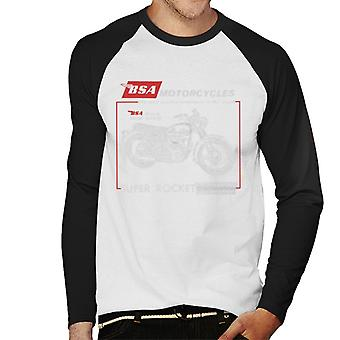 BSA Motorcycles Super Rocket Men's Baseball Long Sleeved T-Shirt
