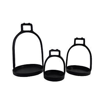 Stirrup set of 3 Antique Black