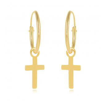 Kreolsk belagt guld 12mm lang Kors