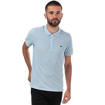 Menn&s Lacoste Slim Fit Petit Piqué Polo Skjorte i Blått