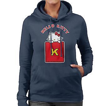 Hallo Kitty gelb K Frauen's Kapuzen Sweatshirt