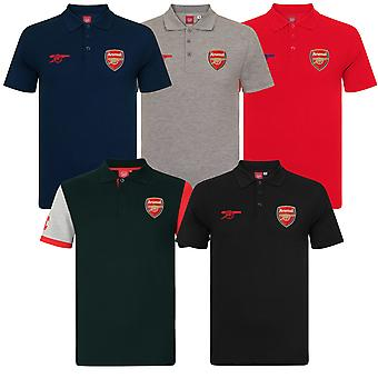 Arsenal FC officiella Fotboll Gift Mens Crest Polo Shirt