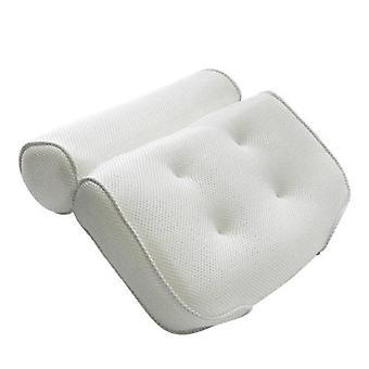Non Slip bañera spa cojín cabeza resto almohada con ventosas para cuello y espalda