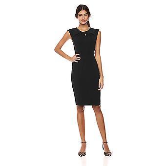 Brand - Lark & Ro Women's  Sleeveless Twist Neck Knot Sheath Dress, Black, 2