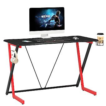 Carbon Fibre Effect Computer en Gaming Desk voor Home Office - Piranha Thresher