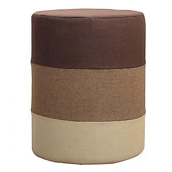 Rebecca Furniture Kruk Poef Ronde Veelkleurig Bruin 45x35x35