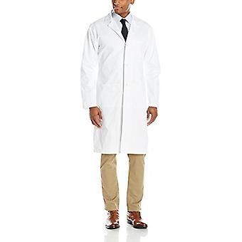 WonderWink الرجال و apos;ق وندرلاب عقدة زر معطف طويل, أبيض, 44