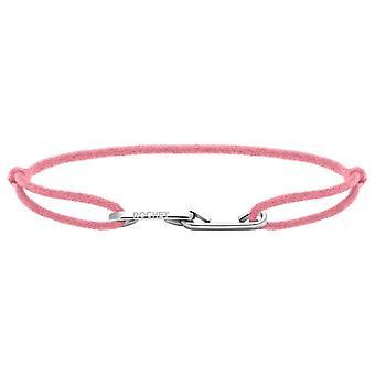 Rochet B216030 pulsera - LOVE Acero con Cordon Rose Poudr R glable Mujer