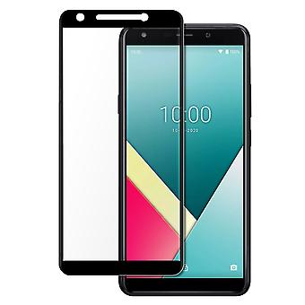 Wiko Y61 9H original tempered glass film with full contoured cover - black