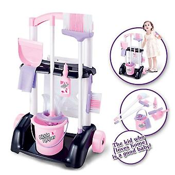 House Cleaning Trolley Set Kids Pretend Play Toy- Little Helper Play