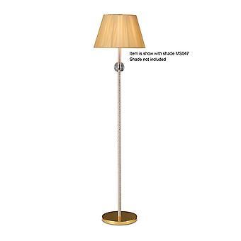 Inspired Diyas - Elena - Floor Lamp (SHADE SOLD SEPARATELY) 1 Light Gold, Crystal