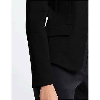 MERAKI Kvinner's Collarless Stretch Jersey Comfort Blazer, Svart, EU S (US 4-6)