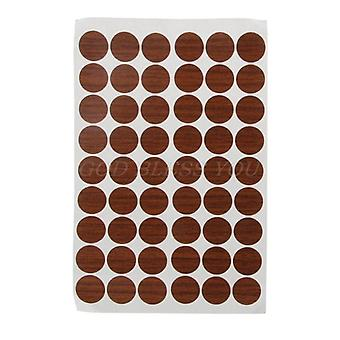 60pcs 20mm Wooden Furniture Self- Adhesive Cabinet Screw Cap Covers Hole