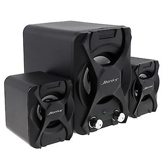 Portable Combination Speakers -3d Stereo Subwoofer, Pc Speaker, Bass Music Dj,