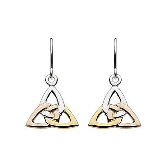 Heritage Sterling Silver Trinity Knot Rose Gold Plate Drop Earrings 6325GRG026