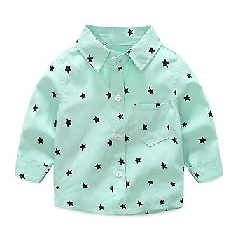 Baby Shirts, Casual Long Sleeve Stars Printed, Cotton