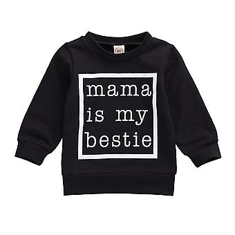Newborn Baby Boys Girls Sweatshirts Tops Long Sleeve Pullover Letter Print