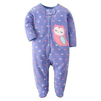 Neonato bambino ragazza jumpsuit Cartoon Unicorn Winter Abbigliamento Lungo Maniche Footies Ragazzo Sonno Pigiama