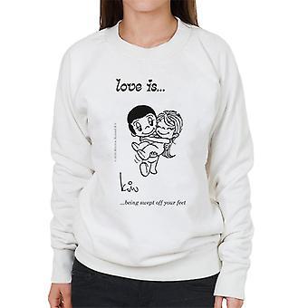 Love Is Being Swept Off Your Feet Women's Sweatshirt