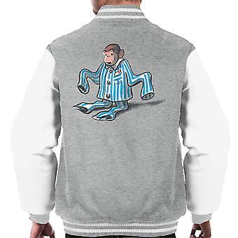 Neugierige George Pyjamas Zu große Männer's Varsity Jacke