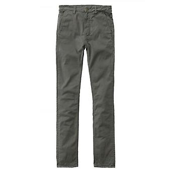 Nudie Jeans Bunker Green Slim Adam Chino Trousers