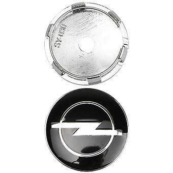 Negro Opel Car Wheel Center Tapa Hub Cubierta 60mm 1 PCS Para Insignia, Corsa, Meriva, Vectra
