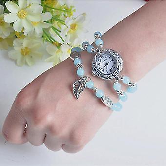 National Style Circular kleine Zifferblatt Frauen einfache Vintage Armband Uhr Quarz