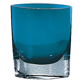 """Samantha Pfau blau europäischen Mund geblasen Glas 8"""" Tasche geformt Vase"""