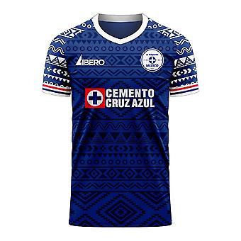 Cruz Azul 2020-2021 Home Concept Football Kit (Libero)