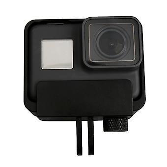 Aluminum Alloy Border Frame Mount Protective Housing Case Cover for GoPro HERO6 Black / HERO5 Black / HERO7 Black(Black)