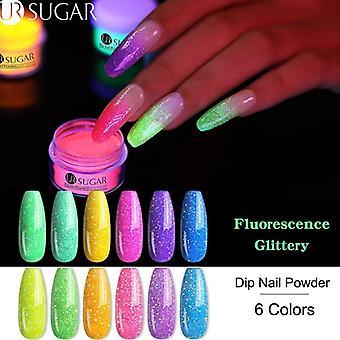 Fluorescence Neon Glitter Pigment Dipping Powder - Nail Art Decoration