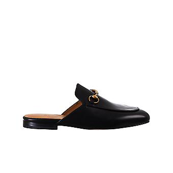 Gucci 423513blm001000 Vrouwen's Black Leather Slippers