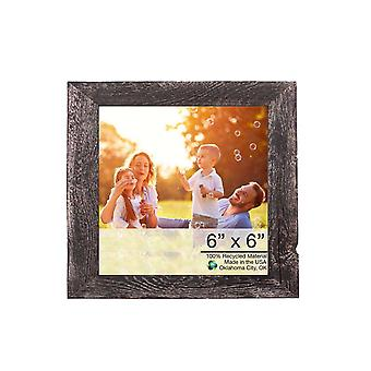"""8""""x8"""" Rustic Smoky Black Picture Frame"""