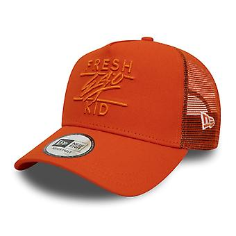Fresh Ego Kid | Fek-577 New Era Trucker Cap - Orange