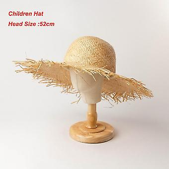 New Handmade Women Straw Sun Hats Large Wide Brim High-quality Sun Caps