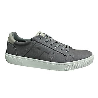 Toms Leandro Drizzle Grey Heritage Canvas Lace Up Mens Trainers 10013259