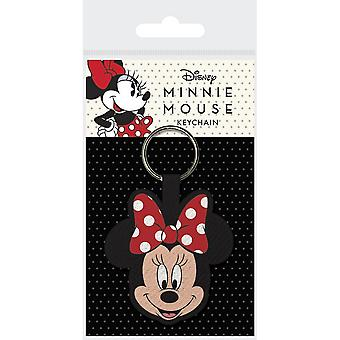 Minnie Mouse Face Woven Keyring