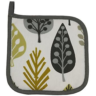 Mcalister textiles magda cotton ochre yellow placemat trivet