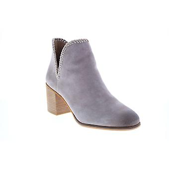 Frye & Co. Phoebe Braid Bootie  Womens Purple Suede Ankle & Booties Boots