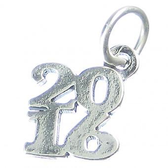2016 År Sterling Silver Charm 0,925 X 1 Jubilæum olympiske Charms - 4193