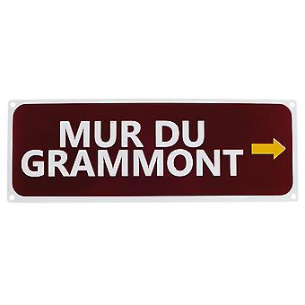 Mur du Grammont Replica Road Sign