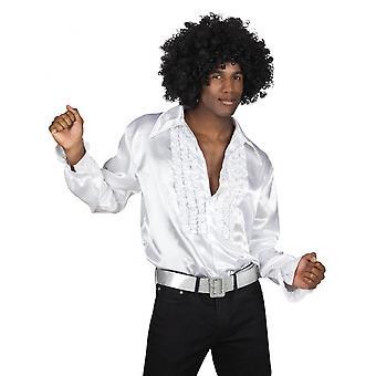 Shirt Disco Men Polyester White Size Xxl
