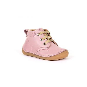FRODDO Laced Short Boots In Pink