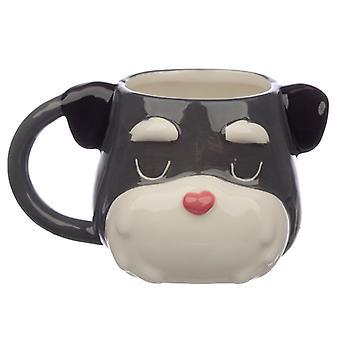 Ceramic dog squad schnauzer head collectable mug