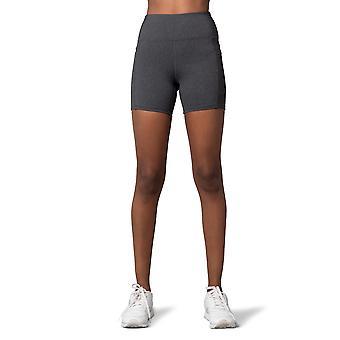 Naisten korkeavyötäröiset nailons shortsit, joissa 5 tuuman sisään- ja sivutaskut