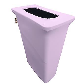 La Linen Stretch Spandex Trash Can Cover For Slim Jim 23-Gallon, Lilac