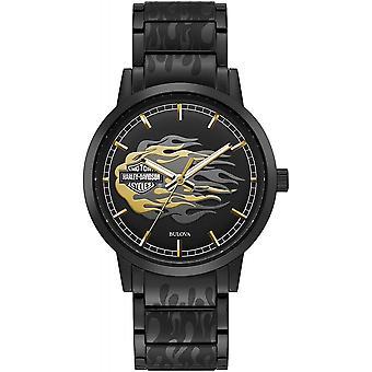 Harley Davidson 78A121 Men's Metallic Flames Wristwatch